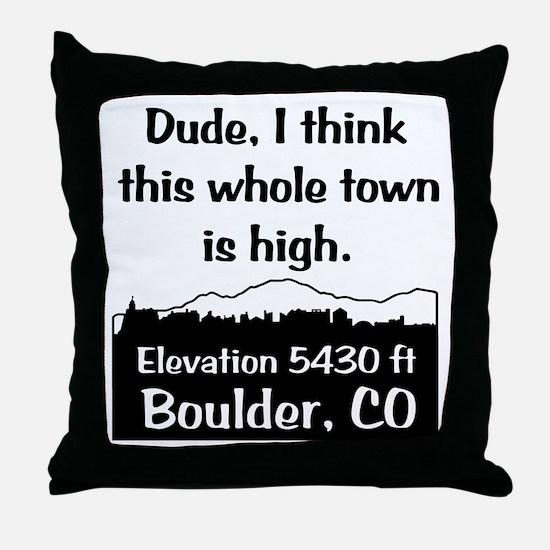 Boulder High Town Throw Pillow