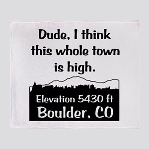 Boulder High Town Throw Blanket