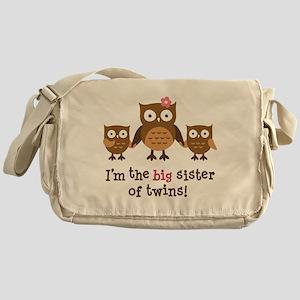 Big Sister of Twins - Mod Owl Messenger Bag