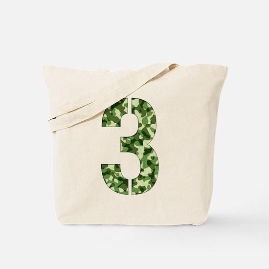 Number 3, Camo Tote Bag