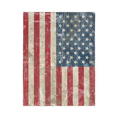 Vintage USA Flag Twin Duvet