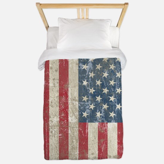 Vintage USA Flag Twin Duvet