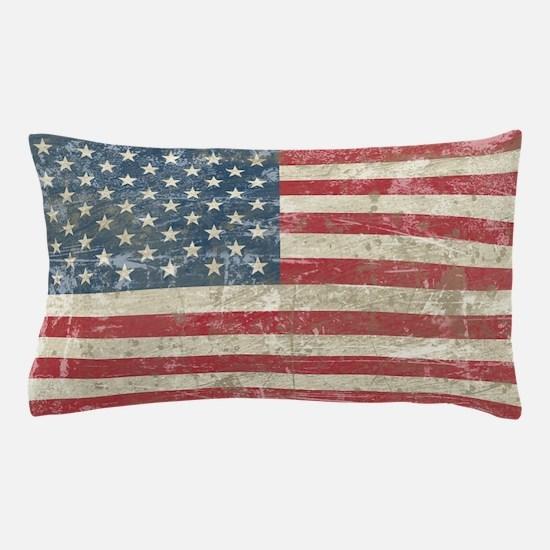 Vintage USA Flag Pillow Case