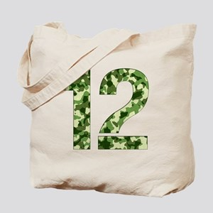 Number 12, Camo Tote Bag
