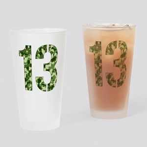 Number 13, Camo Drinking Glass
