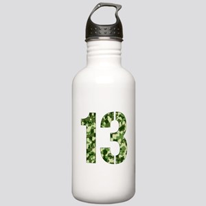 Number 13, Camo Stainless Water Bottle 1.0L