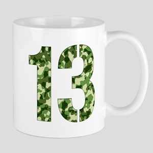 Number 13, Camo Mug