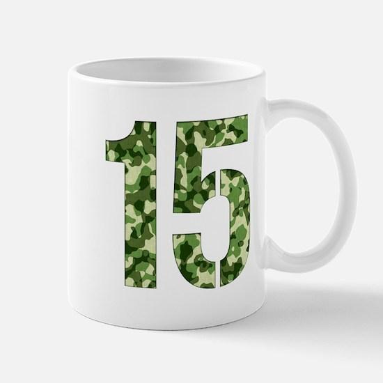 Number 15, Camo Mug