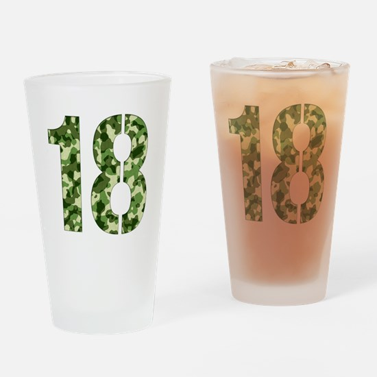 Number 18, Camo Drinking Glass