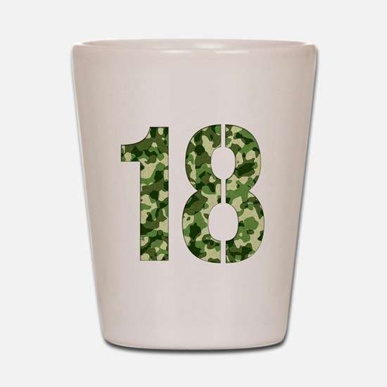 Number 18, Camo Shot Glass