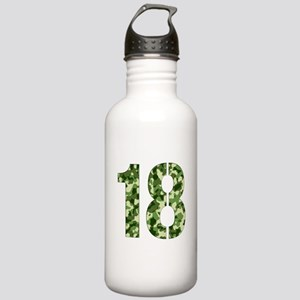 Number 18, Camo Stainless Water Bottle 1.0L