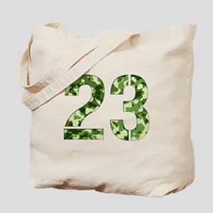 Number 23, Camo Tote Bag
