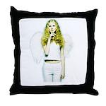 Angel Shhh Throw Pillow