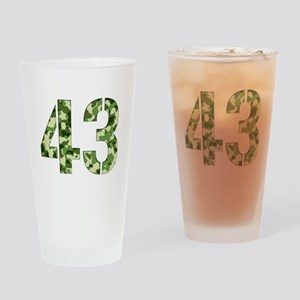 Number 43, Camo Drinking Glass