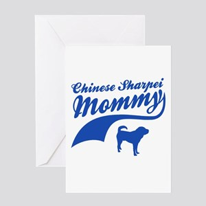 Chinese shar pie Mommy Greeting Card