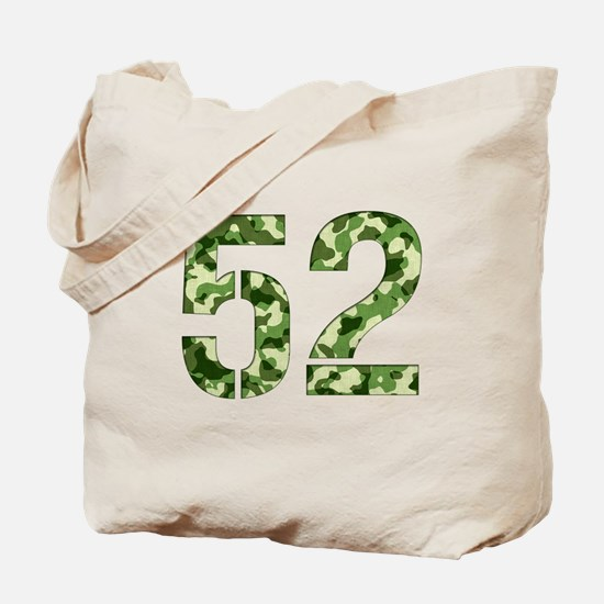 Number 52, Camo Tote Bag