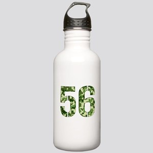 Number 56, Camo Stainless Water Bottle 1.0L