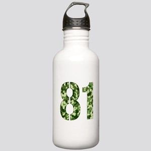 Number 81, Camo Stainless Water Bottle 1.0L