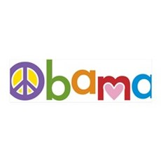 Peace, Love, Obama 42x14 Wall Peel