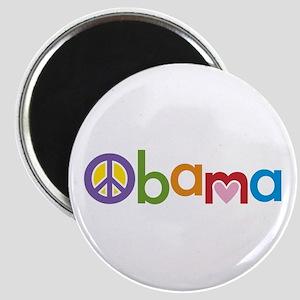 Peace, Love, Obama Magnet
