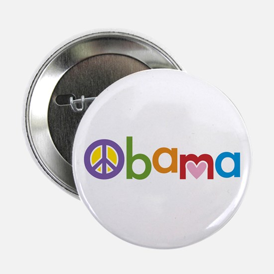 "Peace, Love, Obama 2.25"" Button"