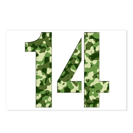 Number 14, Camo Postcards (Package of 8)