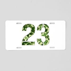 Number 23, Camo Aluminum License Plate