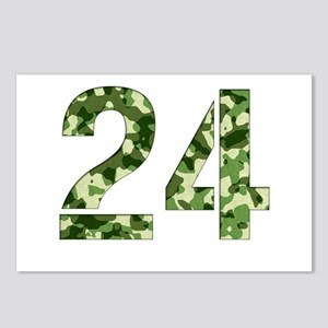 Number 24, Camo Postcards (Package of 8)