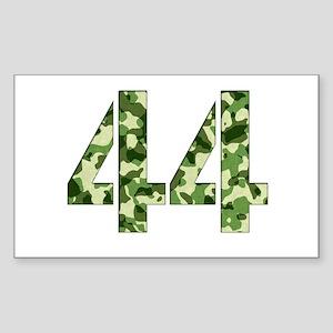 Number 44, Camo Sticker (Rectangle)