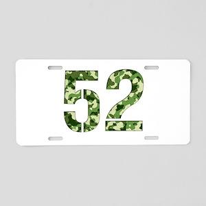 Number 52, Camo Aluminum License Plate