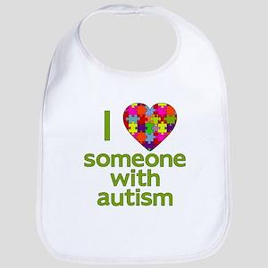 I Love Someone with Autism Bib