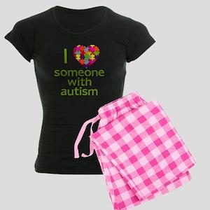 I Love Someone with Autism Women's Dark Pajamas