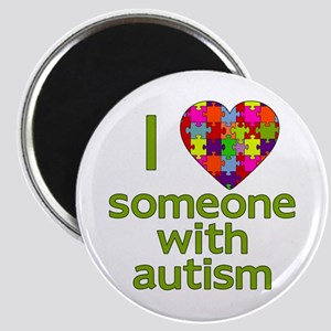 I Love Someone with Autism Magnet