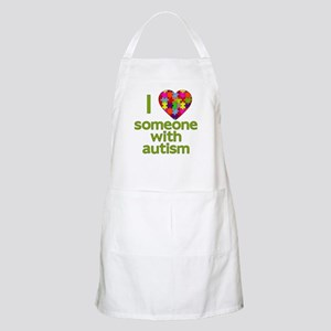 I Love Someone with Autism Apron