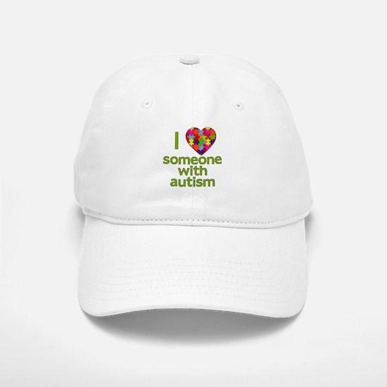 I Love Someone with Autism Baseball Baseball Cap