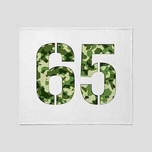 Number 65, Camo Throw Blanket