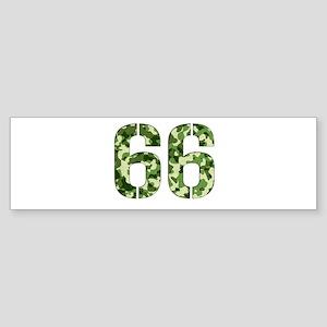 Number 66, Camo Sticker (Bumper)