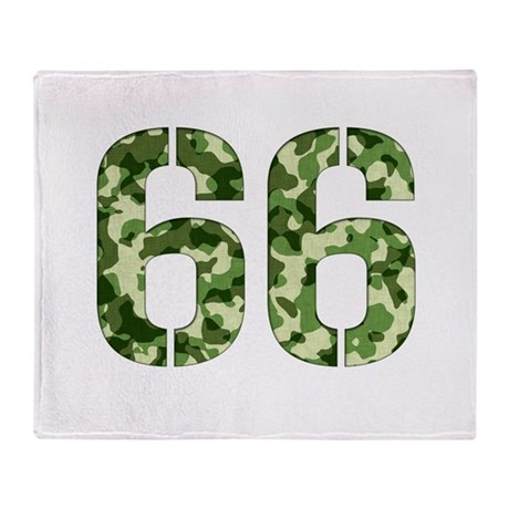 Number 66, Camo Throw Blanket