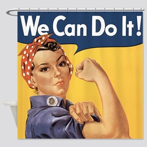 Howard Miller We Can Do It Shower Curtain