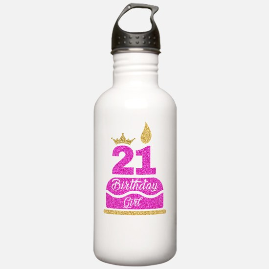 Cute 21st birthday Water Bottle