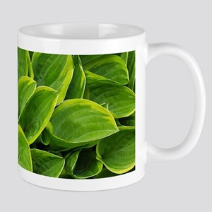 Lush green hosta leaves Mugs