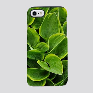 Lush green hosta leaves iPhone 7 Tough Case