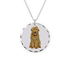 Goldendoodle Necklace Circle Charm