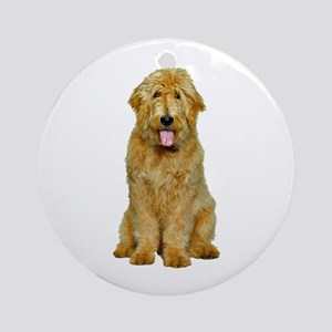 goldendoodle ornament round - Goldendoodle Christmas Decorations