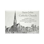 St John Lithograph Rectangle Magnet (10 pack)