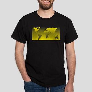 world yellow black 1: Dark T-Shirt