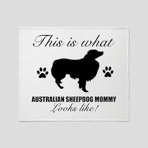 Australian Sheepdog Mommy Throw Blanket