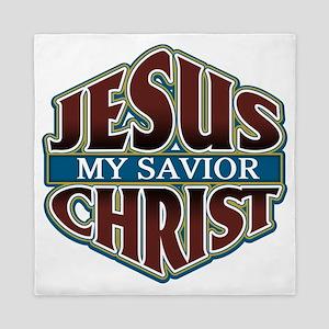 Jesus Christ Savior Queen Duvet
