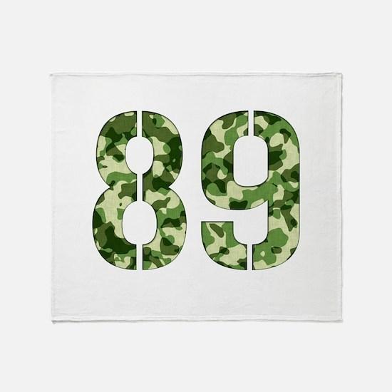 Number 89, Camo Throw Blanket