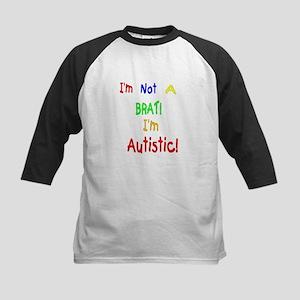 Autistic not a Brat Kids Baseball Jersey